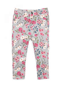 Infant Girls Floral Denim Pants