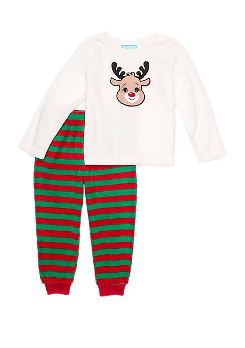 Lightning Bug Toddler Girls 2 Piece Fleece Pajama