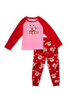 Toddler Girls 2-Piece Long Sleeve Pajama Set