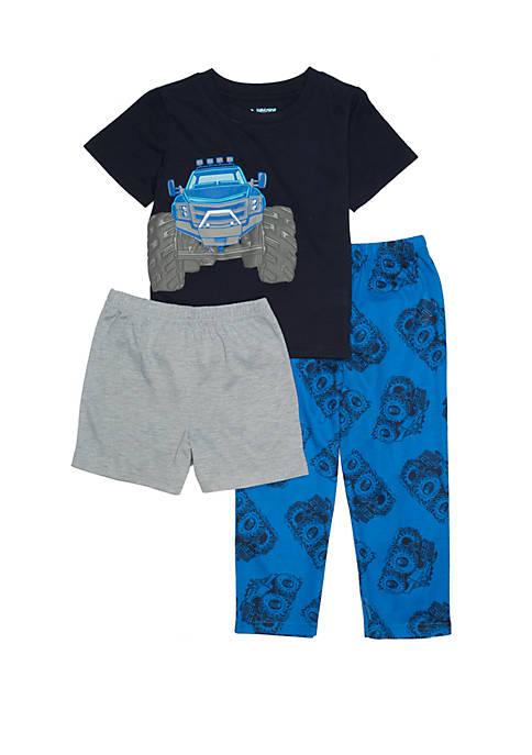 Lightning Bug Toddler Boys 3 Piece Pajama Set