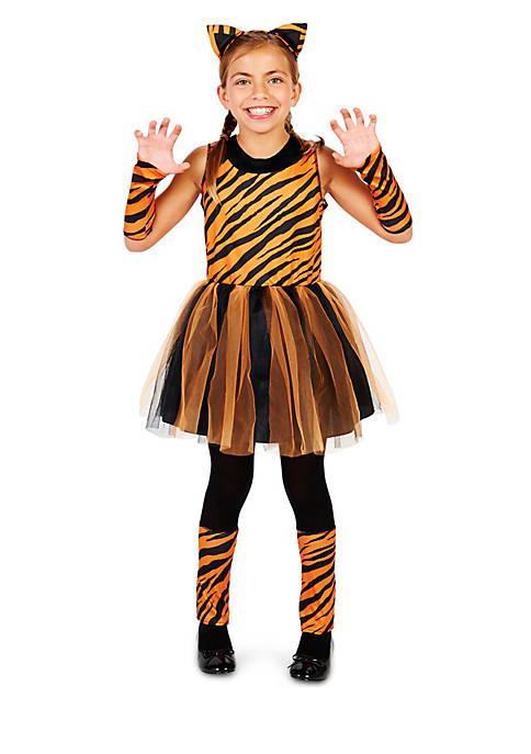 Girls 7-16 Cool Cat Tigeress Costume