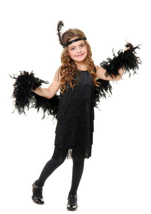 Toddler Girls Black Fashion Flapper Costume