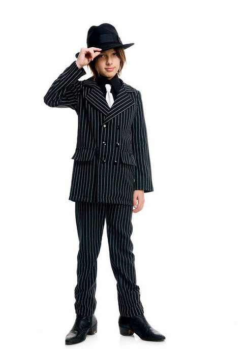 Charades Toddler Boys Gangster Suit Costume