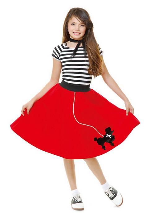 Toddler Girls Red Sock Hop Sweetheart Costume