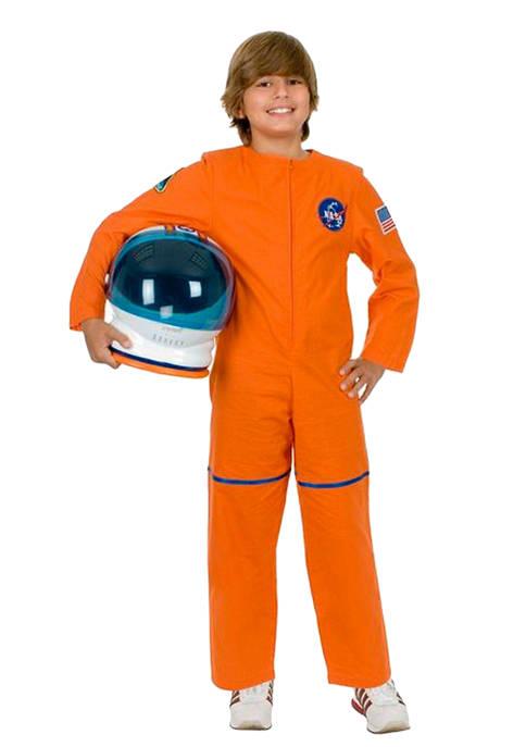 Toddler Boys Orange Astronaut Suit Costume