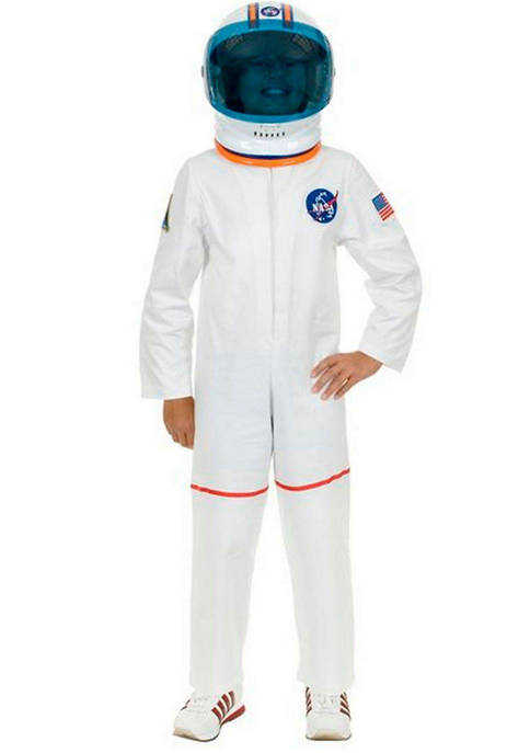 Toddler Boys White Astronaut Suit Costume