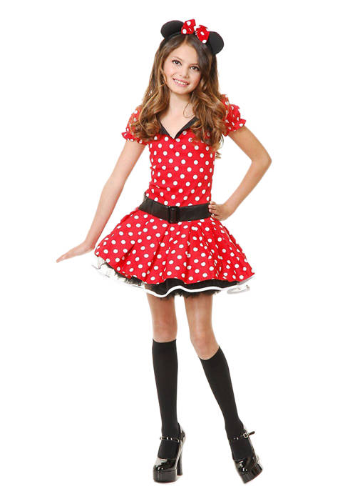 Charades Toddler Girls Miss Mouse Costume