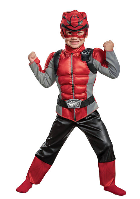 Disguise Toddler Red Ranger Beast Morpher Muscle Costume