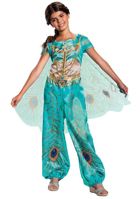 Disguise Toddler Girls Aladdin: Jasmine Teal Classic Costume