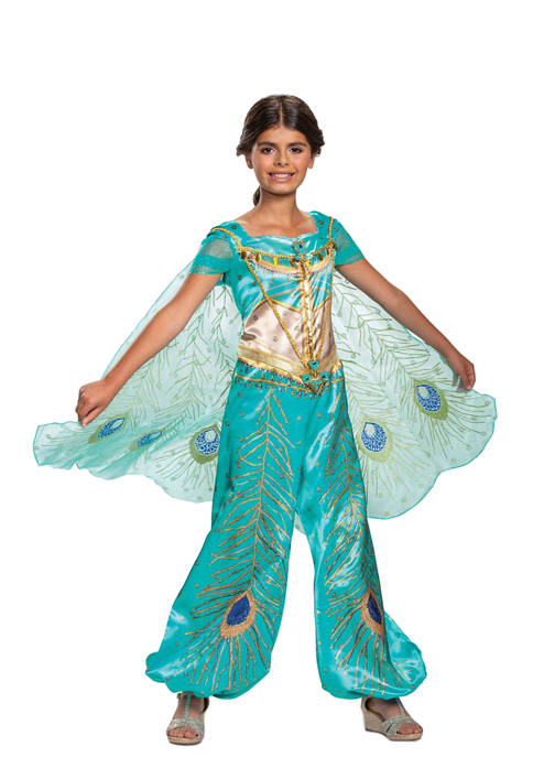 Disguise Toddler Girls Aladdin: Jasmine Teal Deluxe Costume