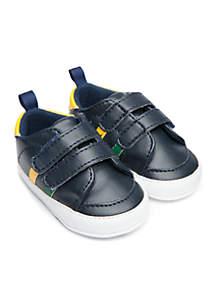 Infant Boys Navy Low Top Stripe Sneaker