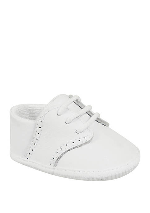 Crown & Ivy™ Baby Boys White Leather Oxford