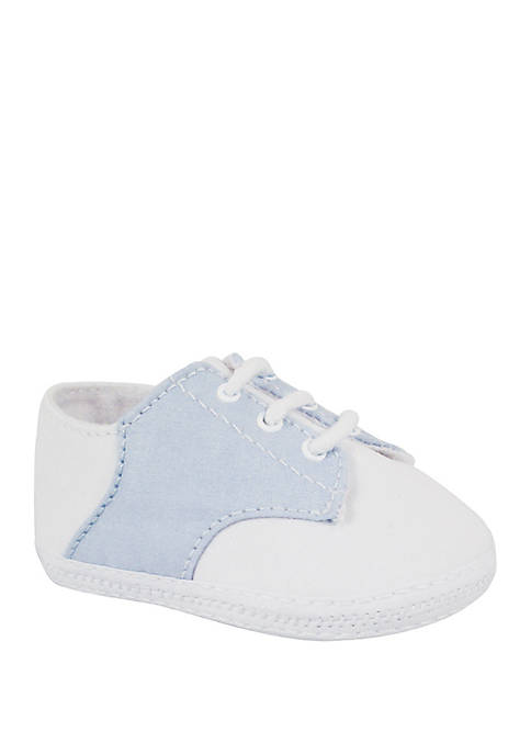 Baby Boys White Blue Oxford Shoes