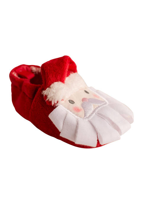 Crown & Ivy™ Baby Santa Slippers