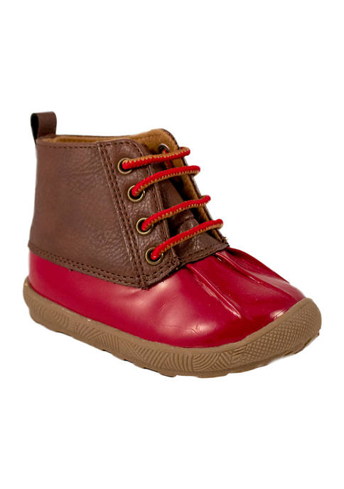 Crown & Ivy™ Toddler Boys Red Duck Boots