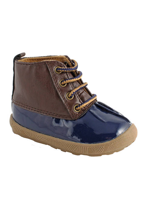 Crown & Ivy™ Toddler Boys Navy Duck Boots