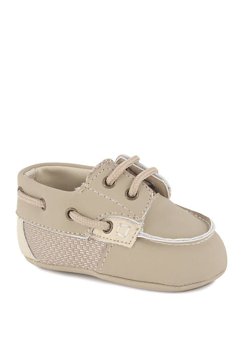 Crown & Ivy™ Baby Boys Tan Docksider Shoes