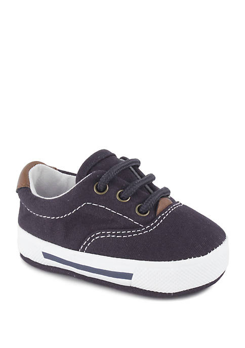 Crown & Ivy™ Baby Boys Navy Lace-Up Shoes