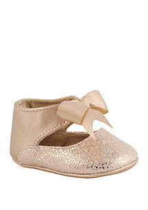 Baby Girls Rose Gold Bow Shoes