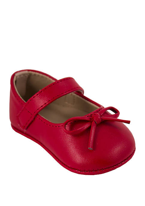 Crown & Ivy™ Baby Girls Red Ballet Flats