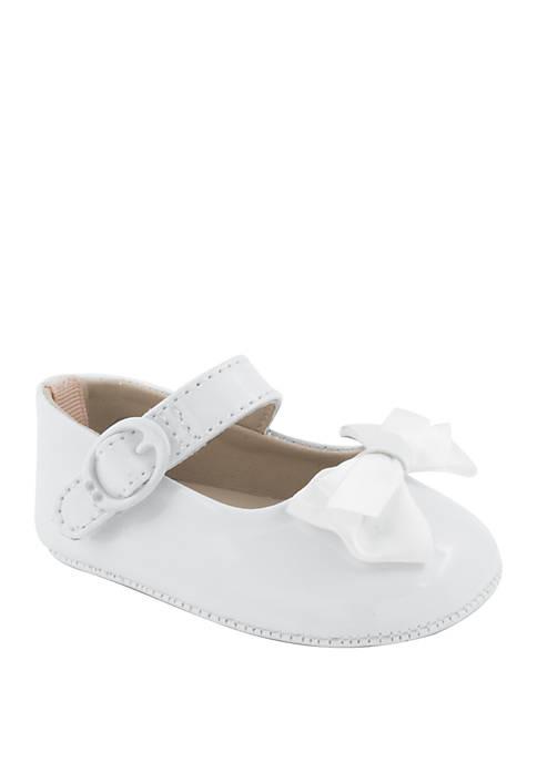 Crown & Ivy™ Baby Girls White Patent Skimmer