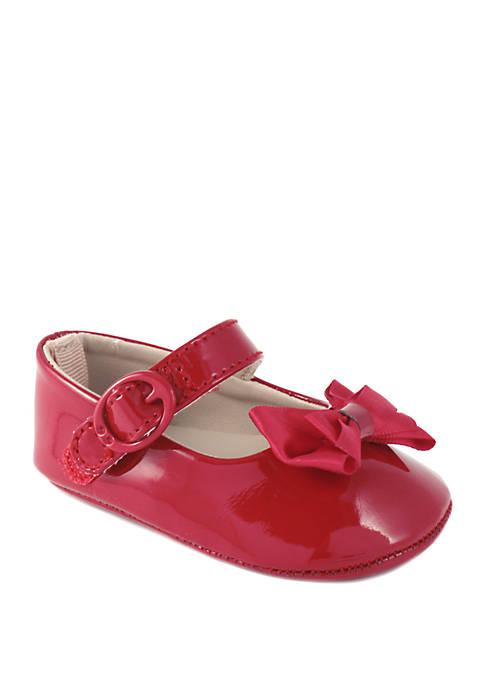 Crown & Ivy™ Baby Girls Red Patent Skimmer
