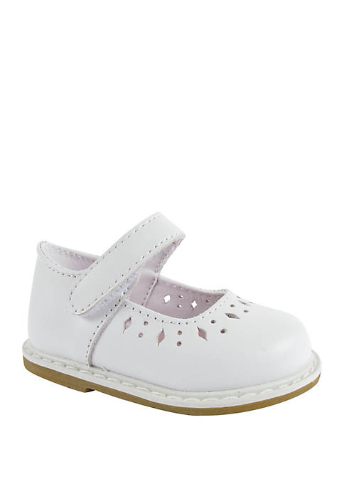 Crown & Ivy™ Baby Girls White Mary Jane