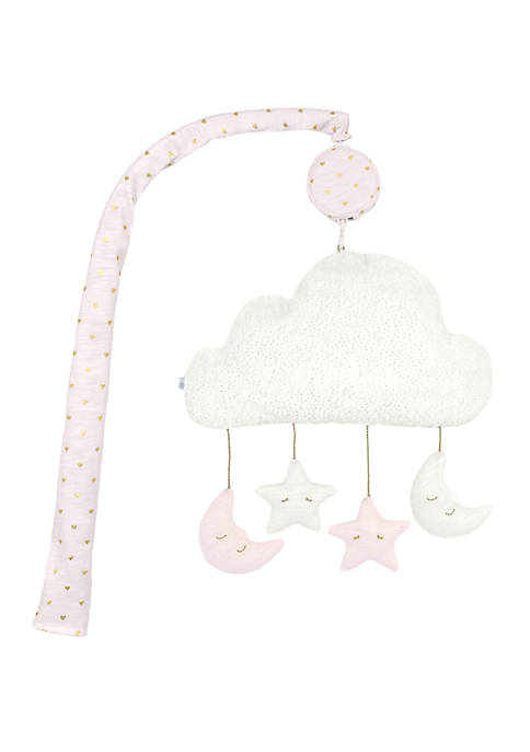 Sparkle Cloud Moon and Stars Musical Mobile