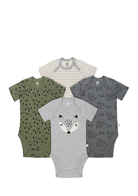 Just Born Baby Boys Organic Bodysuit Set
