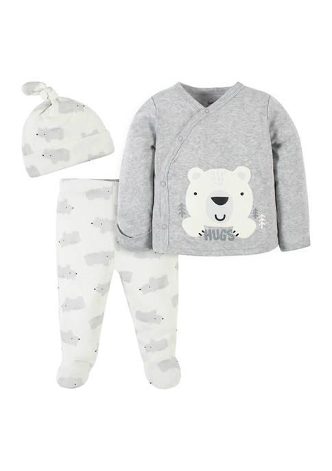 Gerber® Baby Boys 3 Piece Polar Bear Sweatshirt