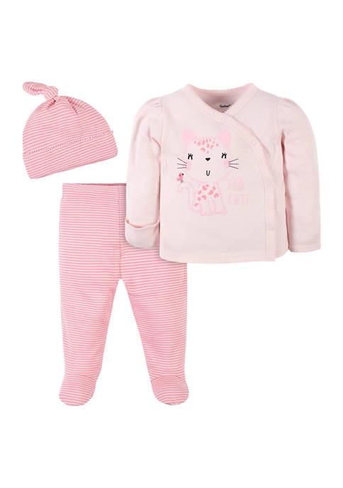 Gerber® Baby Girls Leopard 3 Piece Set