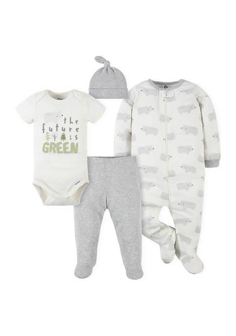 Gerber® Baby Boys Polar Bear Pants, Footies &