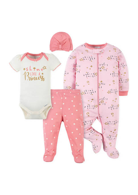 Gerber® Baby Girls Princess Pants, Footies & Bodysuit