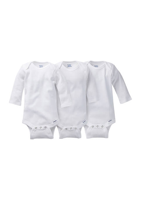 Gerber® Baby Girls Long Sleeve Bodysuit Set