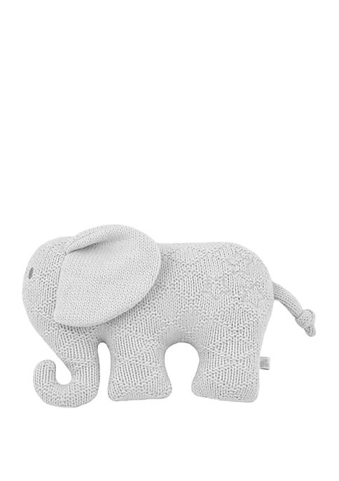 Just Born Sparkle Sweater Knit Plush Toy Gray