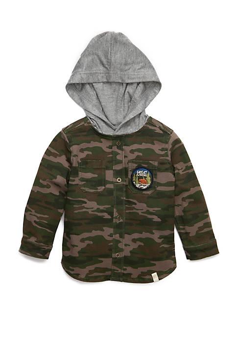 TRUE CRAFT Baby Boys Hooded Shirt Jacket