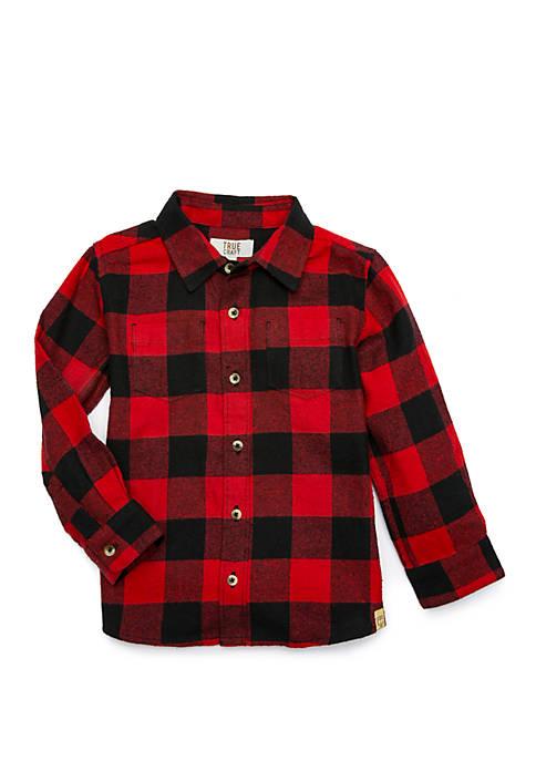 TRUE CRAFT Baby Boys Flannel Button Down Shirt