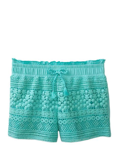Toddler Girls Crochet Knit Shorts