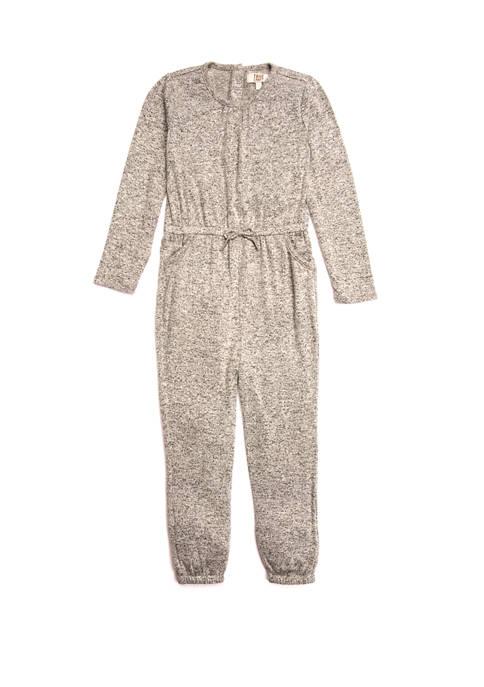 TRUE CRAFT Toddler Girls Tie Front Knit Romper