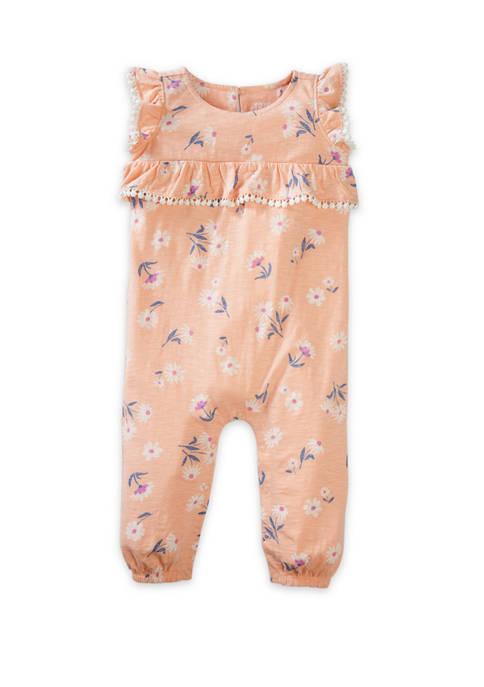 TRUE CRAFT Toddler Girls Ruffle Romper