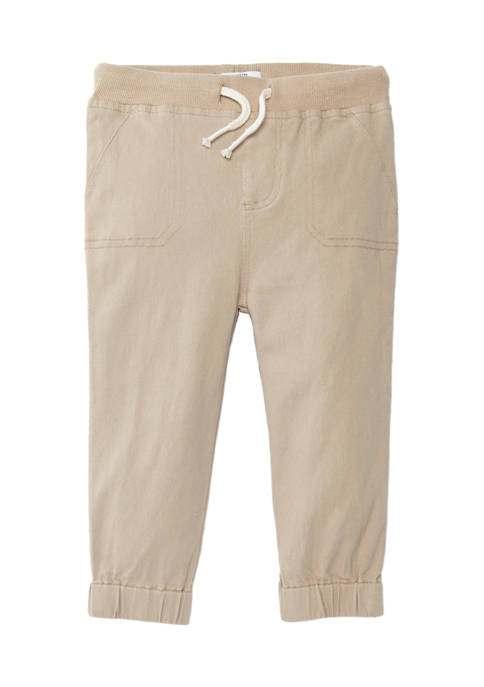 Crown & Ivy™ Baby Boys Twill Joggers