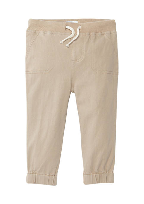 Crown & Ivy™ Baby Boys Twill Jogger Pants