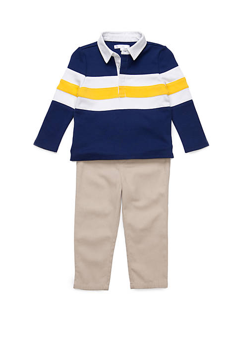 Crown & Ivy™ Baby Boys Rugby Top and