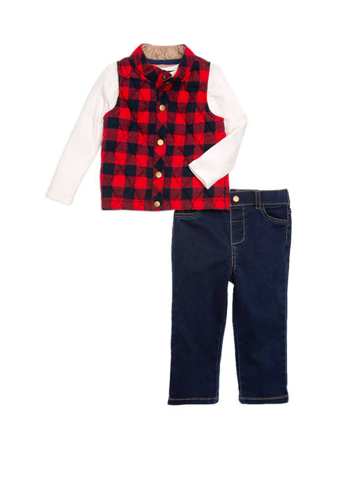 Crown & Ivy™ Baby Boys 3 Piece Vest