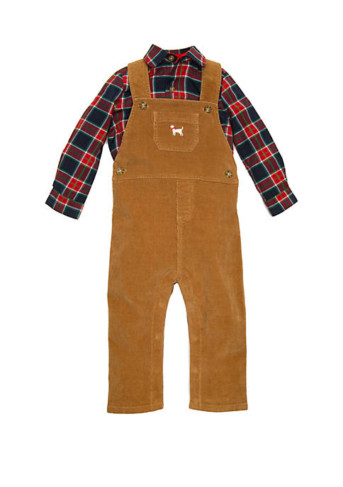 Crown & Ivy™ Baby Boys Overall Set