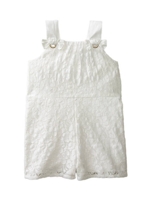 Crown & Ivy™ Toddler Girls Lace Romper
