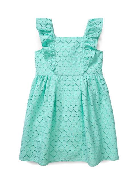 Crown & Ivy™ Toddler Girls Ruffle Front Dress