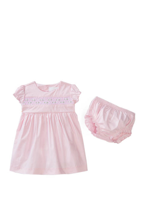 Crown & Ivy™ Baby Girls Smocked Dress