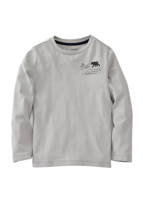 Crown & Ivy™ Toddler Boys Long Sleeve Graphic