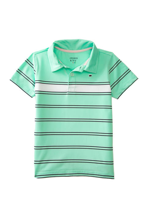 Crown & Ivy™ Toddler Boys Short Sleeve Performance